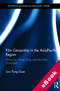 Cover of Film Censorship in the Asia-Pacific Region: Malaysia, Hong Kong and Australia Compared (eBook)