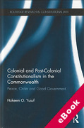 Cover of Colonial and Post-Colonial Constitutionalism in the Commonwealth: Peace, Order and Good Government (eBook)