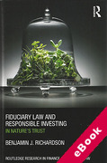 Cover of Fiduciary Law and Responsible Investing: In Nature's Trust (eBook)