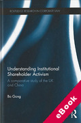Cover of Understanding Institutional Shareholder Activism: A Comparative Study of the UK and China (eBook)