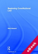 Cover of Beginning Constitutional Law (eBook)