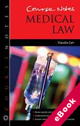 Cover of Course Notes: Medical Law (eBook)