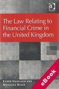 Cover of The Law Relating to Financial Crime in the United Kingdom (eBook)
