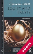 Cover of Course Notes: Equity and Trusts (eBook)