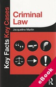 Cover of Key Facts Key Cases: Criminal Law (eBook)