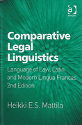 Cover of Comparative Legal Linguistics: Language of Law, Latin and Modern Lingua Francas