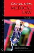 Cover of Course Notes: Medical Law