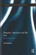 Cover of Directors' Decisions and the Law: Promoting Success