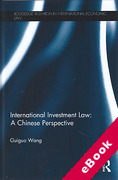 Cover of International Investment Law: A Chinese Perspective (eBook)