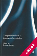 Cover of Comparative Law: Engaging Translation (eBook)