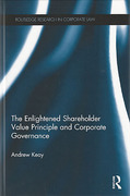 Cover of The Enlightened Shareholder Value Principle and Corporate Governance
