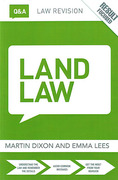 Cover of Routledge Law Revision Q&A: Land Law
