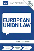 Cover of Routledge Law Revision Q&A: European Union Law