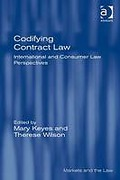 Cover of Codifying Contract Law: International and Consumer Law Perspectives (eBook)