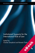 Cover of Institutional Supports for the International Rule of Law (eBook)