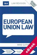 Cover of Routledge Law Revision Q&A: European Union Law (eBook)