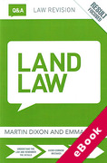Cover of Routledge Law Revision Q&A: Land Law (eBook)