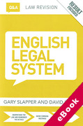Cover of Routledge Law Revision Q&A: English Legal System (eBook)