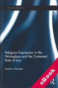 Cover of Religious Expression in the Workplace and the Contested Role of Law (eBook)