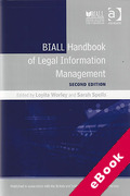 Cover of BIALL Handbook of Legal Information Management (eBook)