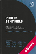 Cover of Public Sentinels: A Comparative Study of Australian Solicitors-General (eBook)