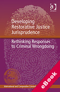 Cover of Developing Restorative Justice Jurisprudence: Rethinking Responses to Criminal Wrongdoing (eBook)