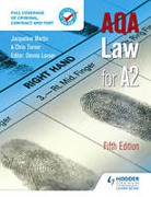 Cover of AQA Law for A2