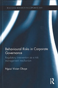 Cover of Behavioural Risks in Corporate Governance: Regulatory Intervention as a Risk Management Mechanism