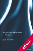 Cover of Law and the Philosophy of Privacy (eBook)