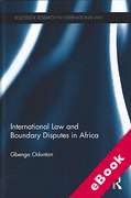Cover of International Law and Boundary Disputes in Africa (eBook)