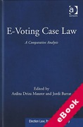 Cover of E-Voting Case Law: A Comparative Analysis (eBook)