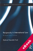 Cover of Reciprocity in International Law: Its Impact and Function (eBook)