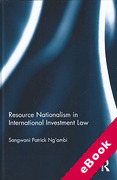 Cover of Resource Nationalism in International Investment Law (eBook)