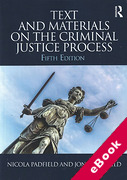 Cover of Text and Materials on the Criminal Justice Process (eBook)