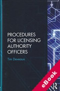 Cover of Procedures for Licensing Authority Officers (eBook)