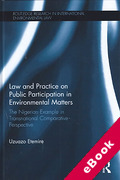 Cover of Law and Practice on Public Participation in Environmental Matters: The Nigerian Example in Transnational Comparative Perspective (eBook)