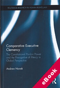 Cover of Comparative Executive Clemency: The Prerogative of Mercy in the Commonwealth (eBook)