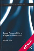 Cover of Board Accountability in Corporate Governance (eBook)