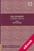 Cover of Legal Lexicography: A Comparative Perspective (eBook)