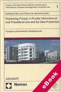 Cover of Protecting Privacy in Private International and Procedural Law and by Data Protection: European and American Developments (eBook)