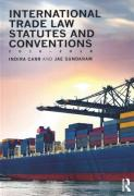 Cover of International Trade Law Statutes and Conventions 2016-2018
