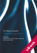 Cover of Too Many Lawyers?: The Future of the Legal Profession (eBook)