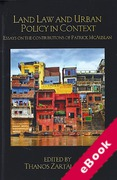Cover of Land Law and Urban Policy in Context: Essays on the Contributions of Patrick McAuslan (eBook)