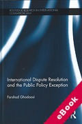 Cover of International Dispute Resolution and the Public Policy Exception (eBook)
