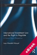 Cover of International Investment Law and the Right to Regulate (eBook)