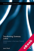 Cover of Transforming Summary Justice: Modernisation in the Lower Criminal Courts (eBook)