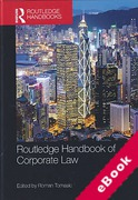 Cover of Routledge Handbook of Corporate Law (eBook)
