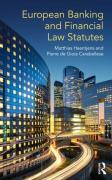 Cover of European Banking and Financial Law Statutes