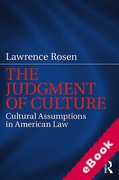 Cover of The Judgement of Culture: Cultural Assumptions in American Law (eBook)