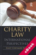 Cover of Charity Law: International Perspectives (eBook)